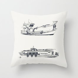 On paper: Capote y Picaflor Throw Pillow
