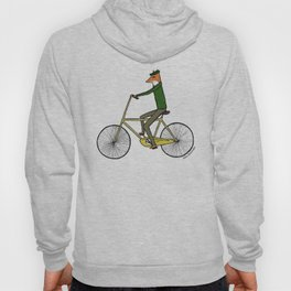 Mr. Fox on a Bicycle Hoody
