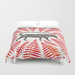 Black Jaguar – Red Leaf Palette Duvet Cover