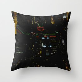 The Merchandise Mart in Red and Green (Chicago Christmas/Holiday Collection) Throw Pillow