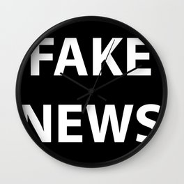Fake News (White Text) Wall Clock