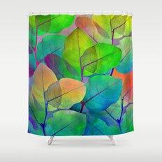 Translucent Leaves Shower Curtain