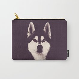 Vintage Oil Painting Husky Dog Special Design for Dog Lovers Carry-All Pouch