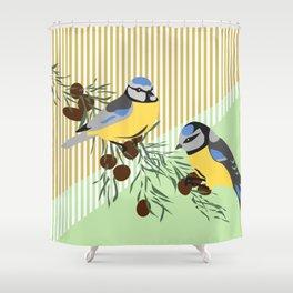 two birds in harmonie Shower Curtain
