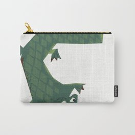 Snapping vintage Alligator Carry-All Pouch