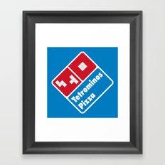 Tetrominos Pizza Framed Art Print