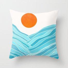 Waves Like Mountains Throw Pillow