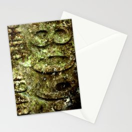 plate rust Stationery Cards