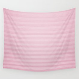 Vintage chic pink geometrical stripes pattern Wall Tapestry