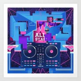 ALL STAR Art Print