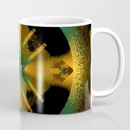 Spinning Wheel Hubcap in Gold Coffee Mug
