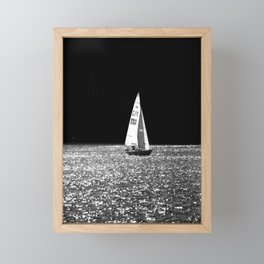 Sailing On The Lake Framed Mini Art Print