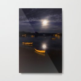 Full moon on Biscay Bay Metal Print