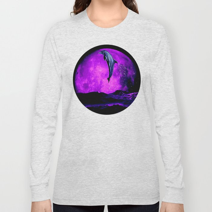 moonstruck dolphin - magician of seas Long Sleeve T-shirt