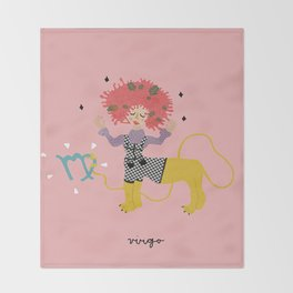 virgo Throw Blanket