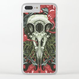 3 Eye Raven Clear iPhone Case