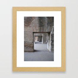 Ancient Doorways Framed Art Print