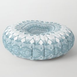 Boho Blue Mandala Floor Pillow