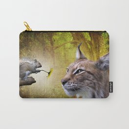 Canadian Lnx and Squirrel Carry-All Pouch