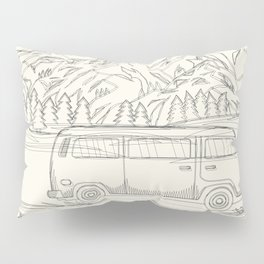 Mountain Road Linescape Pillow Sham