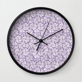 Dusty Butterflies Wall Clock