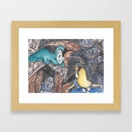Alice and Caterpillar Framed Art Print