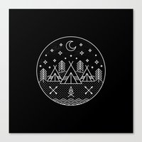 camp Canvas Prints featuring Camp by Hngeb