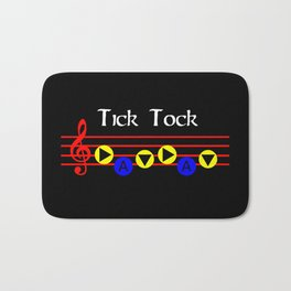 Tick Tock - Song Of Time (The Legend Of Zelda: Ocarina Of Time) Bath Mat