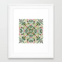 Little Red Riding Hood mandala Framed Art Print
