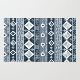 Colorful Aztec pattern with dirty blue. Rug