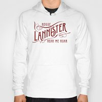 lannister Hoodies featuring House Lannister Typography by P3RF3KT