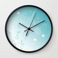 unicorn Wall Clocks featuring UNICORN by ARCHIGRAF