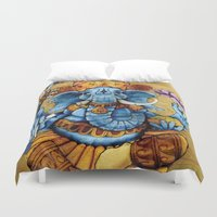 ganesh Duvet Covers featuring Ganesh by RICHMOND ART STUDIO