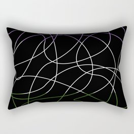Abstract Threads – Genderqueer Pride Flag Rectangular Pillow