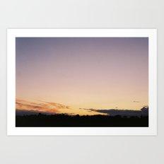 Norfolk Flatland Sunset,  Art Print
