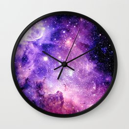 Galaxy Nebula Purple Pink : Carina Nebula Wall Clock