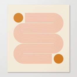 Abstraction_SUN_LINE_ART_Minimalism_002 Canvas Print