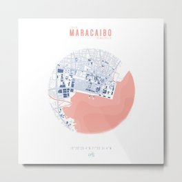 Map Chart #1 - MARACAIBO, VENEZUELA Metal Print