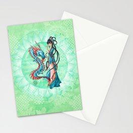 Blue dragon Stationery Cards