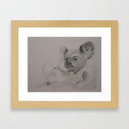 Koala Man Illustration Framed Art Print