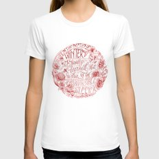 Invincible Summer White LARGE Womens Fitted Tee