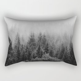 Forest, Black and White Rectangular Pillow