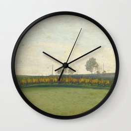 Autumn paints its colors bright Wall Clock