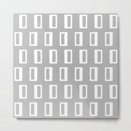 Chad Pattern Grey 22 Metal Print
