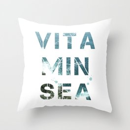 Vitamin Sea II Throw Pillow