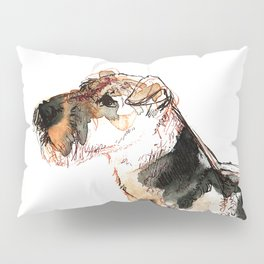 Airedale Terrier Watercolor #2 Pillow Sham