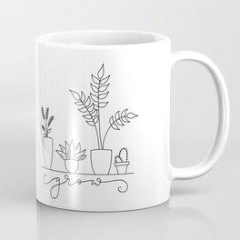 Grow - Potted Plants Coffee Mug