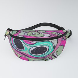 Pig Face Drawing Fanny Pack