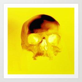 Yellow Skull Art Print