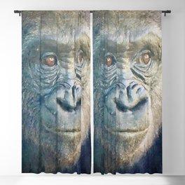 Gorilla watercolor painting #1 Blackout Curtain